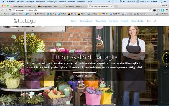 Sito Web per negozio - One Page