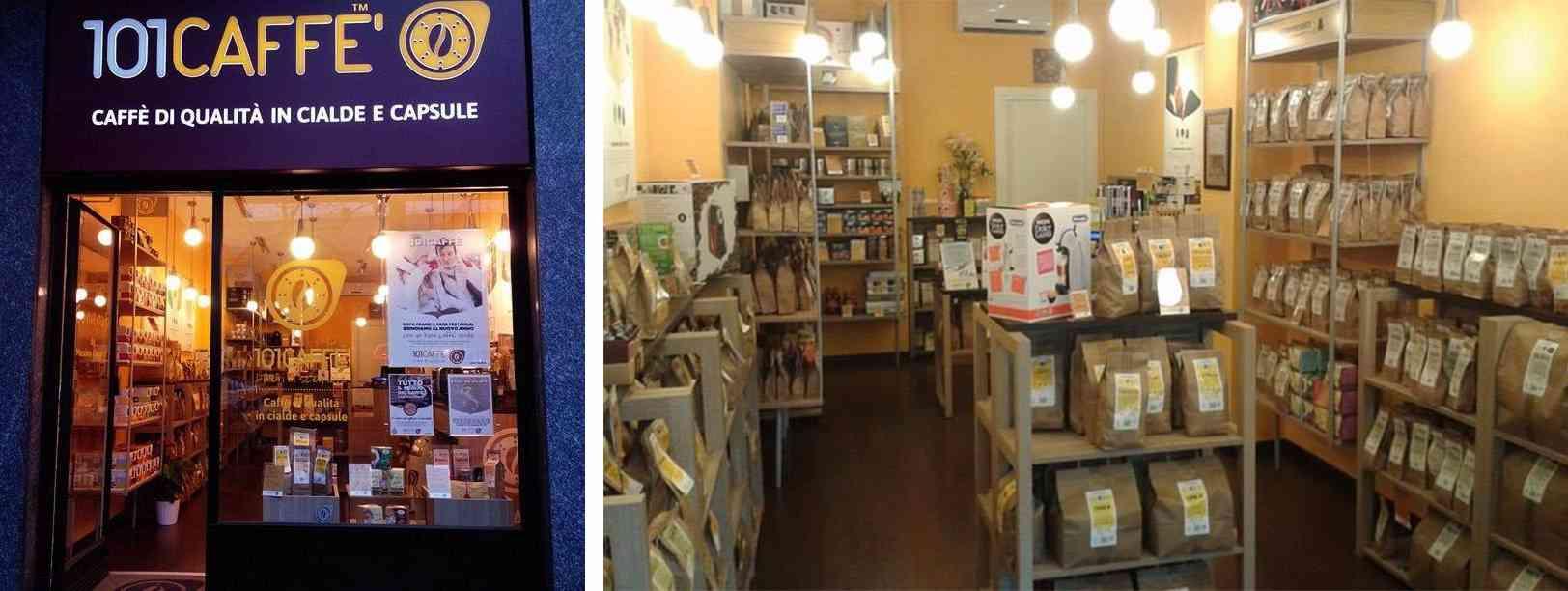 arredamento di un negozio di cialde di caffè