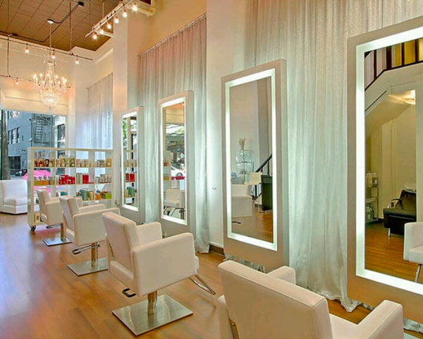 Illuminazione negozio parrucchiera powrgard