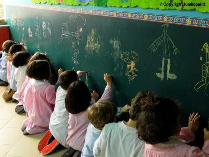 bambini a scuola rientro