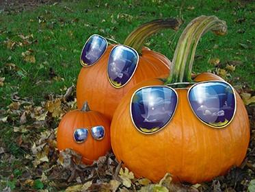 vetrine-halloween-allestimento-zucche-occhiali