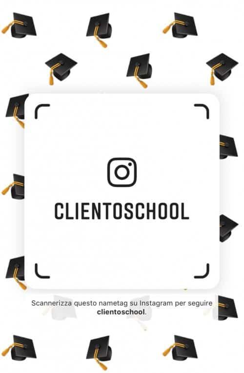 Instagram-per-negozi-Come-usarlo-per-vendere-cornice-Instagram-Nametag-ClientoSchool