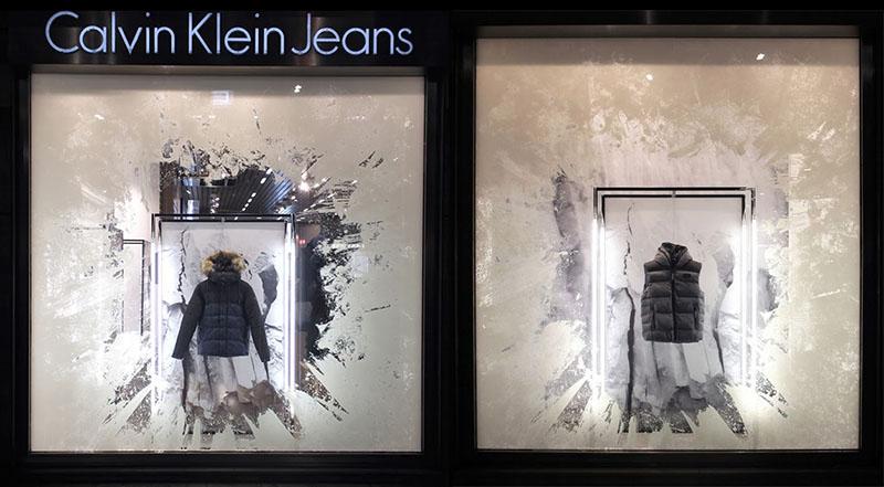 vetrina CK jeans