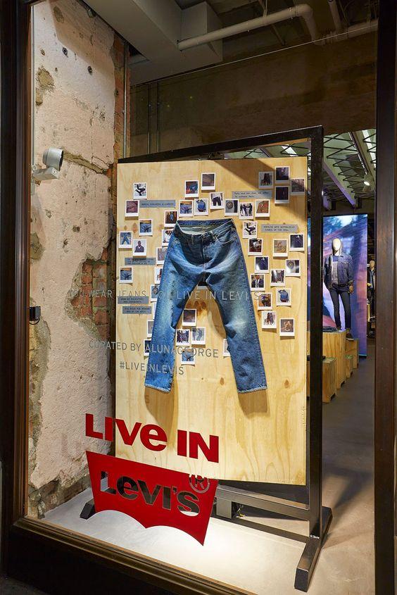 vetrina Levi's Jeans Uomo