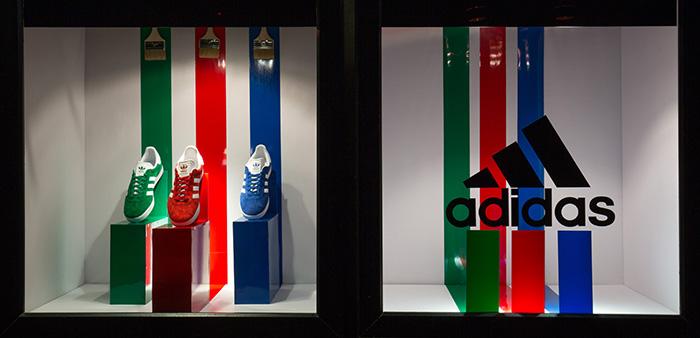 vetrina Adidas uomo