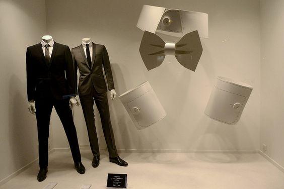 allestimento vetrine abbigliamento uomo eventi formali