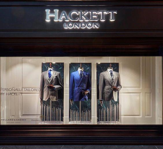 Hackett Londra vetrina