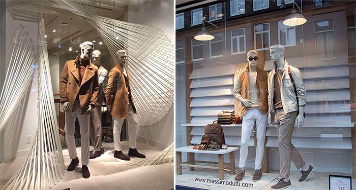 vetrina abbigliamento uomo Massimo Dutti