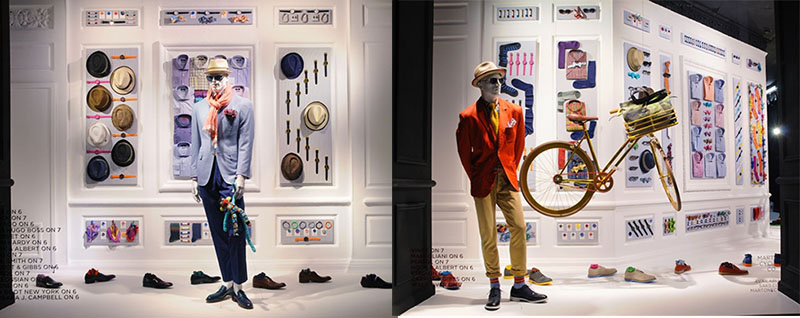 Saks Fifth Avenue vetrina abbigliamento uomo