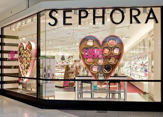 vetrine profumerie Sephora San Valentino