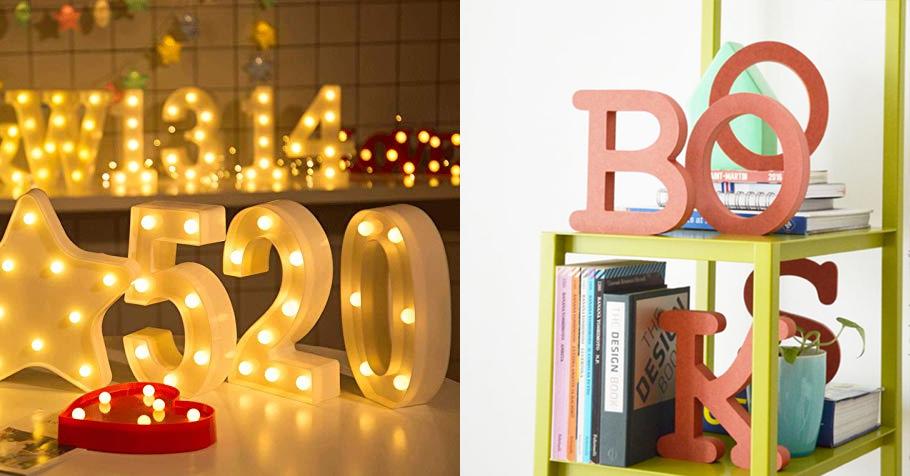 numeri e lettere per vetrine