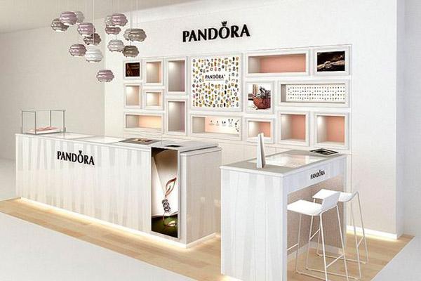 illuminazione negozio Pandora