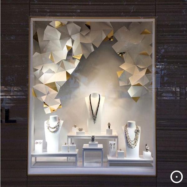 foto del fondale di una vetrina