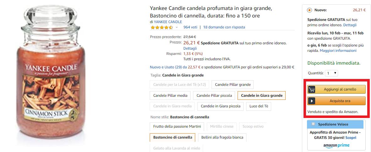 perché vendere su Amazon: buy box
