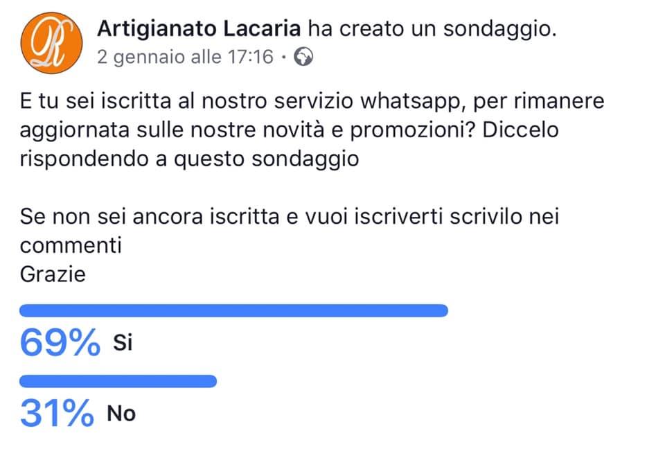Sondaggio su Facebook screenshot