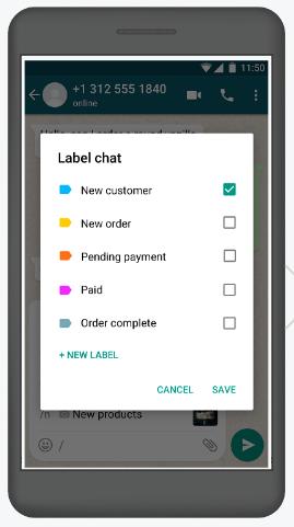 WhatsApp Business come funziona: le etichette