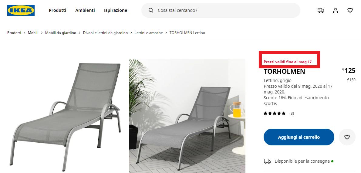 Esempio leva dell'urgenza per IKEA